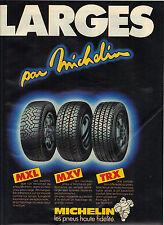 PUBLICITE ADVERTISING  1981    MICHELIN  pneus  LARGES