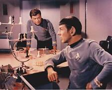 1966 STAR TREK Mr. Spock & Dr. McCoy with chess set - 8x10 color photo