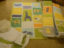 BABY CRIB BEDDING NURSERY SET BOY GIRL POTTERY BARN JUNGLE ANIMALS GREEN WHALE