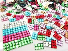 200 Rectangle Acrylic Rhinestone Craft Jewel Embellishment/Square Cut E26-Color