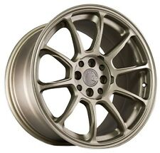 17X9 AodHan AH06 4X100/114.3 +25 Bronze Rims Fits Civic Crx 200Sx Mr2 XB Celica
