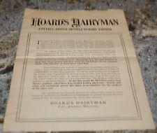 1917-18 Hoard's Dairyman Livestock Nutritional Article Supplement