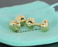 Men's Vintage 1981 Tiffany Co Elsa Peretti 18K Solid Yellow Gold Cufflinks 16.9g