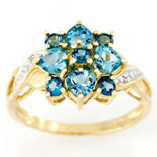 Handmade Cluster Yellow Gold Fine Rings