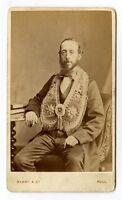 Man wearing Masonic Regalia, Vintage CDV Photo Barry & Co., Hull, United Kingdom