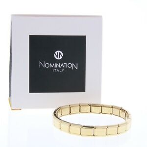 Nomination Italy - Yellow Gold Plated Charm Bracelet - Genuine - Single Tiles