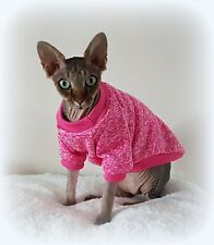 ADULT long sleeves MARL pink jumper for a Sphynx  cat, clothes, jumper sweater