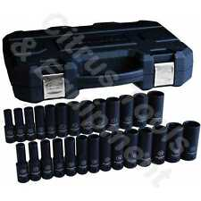 "GearWrench 84949N 27 Pc 1/2"" Dr 6 Pt Metric and SAE Deep Impact Socket Set"