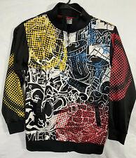 GUESS Mens Long Sleeve Keith Tiger Track Jacket