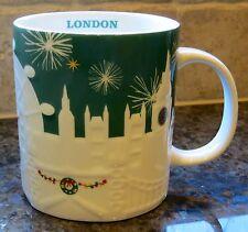 NWT Starbucks LONDON England UK Green Relief City 2015 Christmas Holiday Mug
