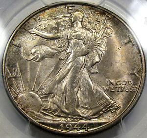 1944-S Walking Liberty Half Dollar PCGS MS-64...Beautiful Coin, Eye Appeal, NICE