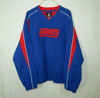 New York Giants NFL Football Team Apparel Pullover Jacket Reebok Size LARGE L