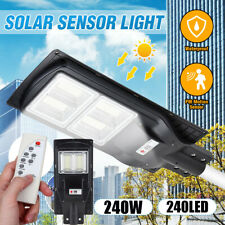 120W 240W LED Solar Street Light Motion Sensor Garden Security Wall Lamp +Remote