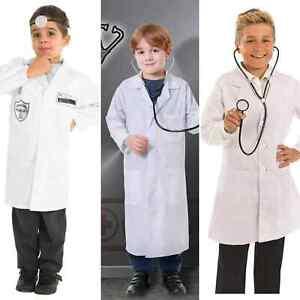 *CLEARANCE* Doctor's White Coat Hospital Boy's Girl's Kid's Fancy Dress Costume