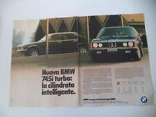 advertising Pubblicità 1980 BMW 745 I TURBO
