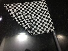 """FORMULA 1/ONE Hand Held Chequered Race Flag, Stockcar 17"""" X 14.5"""" 5"""" Handle"""