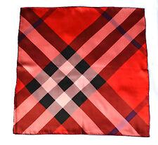 BURBERRY ORIGINAL SCHAL TUCH SCARF Carré платок 100% SEIDE 46x46 UVP 229 € ROT