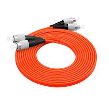 10Pcs 3 M FC-FC Duplex Multimode 62.5/125 M/M OM1 Fiber Optic Cable Patch Cord