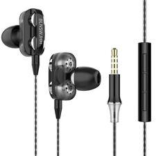 Universal Sport Dual Drivers 4 Units Heavy Bass HiFi Wired Earphones Headphones