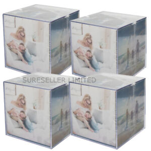 4 X Square 6 Picture Sided Acrylic Photo Frame Cube Gift Memories Present