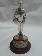 Vintage 1968 Nfl Ford Pp&K Competition Football Trophy 2nd Place Age 10