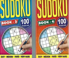 2 SUDOKU BOOKS 96 PUZZLES IN EACH IDEAL FOR TRAVEL THIS IS BOOKS 3 & 4 FREE P/P