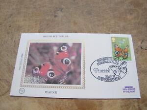 1981 GB Benham Silk FDC -British Butterflies, The Peacock  -Nature interest