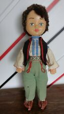 Doll Zhike (Жикэ) in national costume of Moldova, Kishinev, Soviet Union, 1978