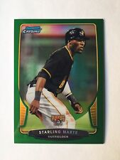 2013 Bowman Chrome Starling Marte Green Refractor #7