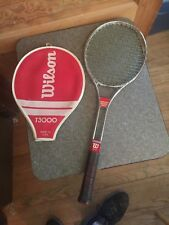 Vintage Wilson T3000 Chrome Tennis Racquet with Cover
