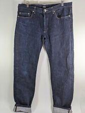 APC New Standard Jean Classique Pants Sz 36 Selvedge Button Fly Indigo Blue