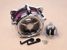 Clear Chrome Air Cleaner Intake Air Filter Fit For Harley Dyna Softail Touring