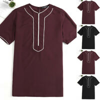 INCERUN Vintage Mens African Dashiki Style Retro Tops Ethnic T Shirt Tee Tops