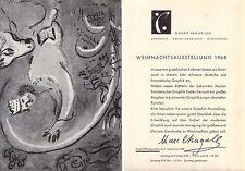 FUTURISMO MARC CHAGALL INVITO GALERIE VAN DE LOO 1960 MONACO