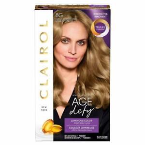 Clairol Age Defy Permanent Hair Color, 8G Medium Golden Blonde