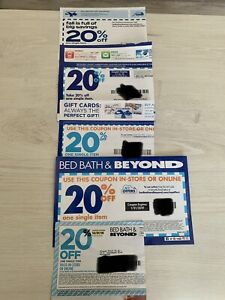 (5) Bed Bath & Beyond 20% Off One Single Item Coupon Never Expire Fast Shipping
