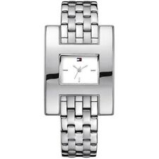 newstuffdaily:NIB TOMMY HILFIGER Fashion Square Stainless Steel Ladies Watch etm