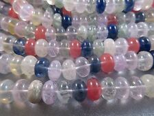 Multi Candy Quartz 14mm Roundel Beads 45pcs