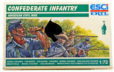 ESCI ERTL # 223 - 1/72 scale Civil War CSA Infantry - mint boxed set WITH FLAG