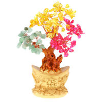 7'' Crystal Luck Yuan Bao Money Tree Feng Shui for Wealth &Luck Home Decor#5