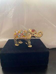 Golden Elephant Box, Jeweled, GORGEOUS.