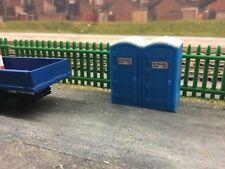 1:76 scale /  00 Gauge 3d Printed Site Toilet Blue.