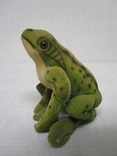 """Vintage German Steiff Soft Velveteen Felt Sitting Frog ~ Froggy ~ 5"""""""