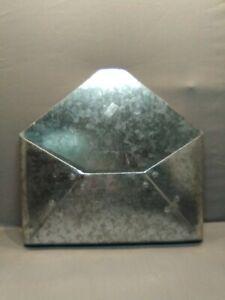 Galvanized Metal Tin Envelope Wall Pocket Organizer Decor
