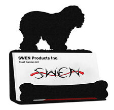 Swen Products Old English Sheepdog Black Metal Business Card Holder