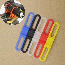 2pcs Bike Bicycle Rubber Band Rope For Torch Headlight Flashlight Random Send