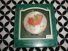Vintage 1987 Hallmark Keepsake Padded Satin Ornament Granddaughter ~T1609