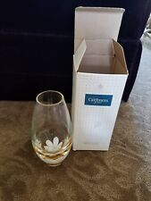 Caithness Glass Flower Vase Scotland NIBStyle 8070 PE Oriental Lily inlaid