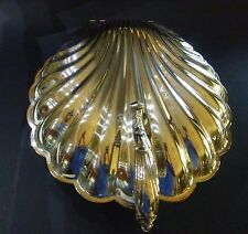Vtg THE SHEFFIELD SILVER CO DOUBLE HINGED CLAM SHELL 3 FOOTED SERVER MINT marked
