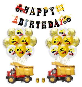 Construction Truck Birthday Party Supplies for Boys Dump Truck Birthday Balloon